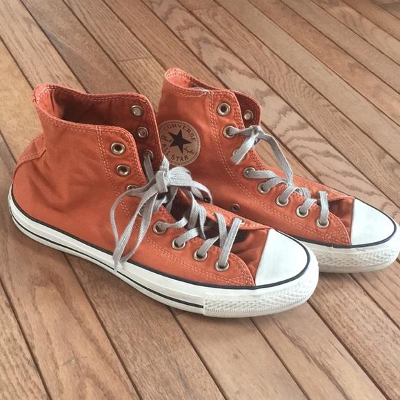 Burnt orange converse shoes | Orange converse, Converse